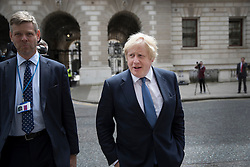 © Licensed to London News Pictures. 14/07/2016. London, UK. Newly appointed Foreign Secretary Boris Johnson walks to the Foreign Office - as Prime Minister Theresa May continues to make cabinet appointments on her first full day in office. Photo credit: Peter Macdiarmid/LNP