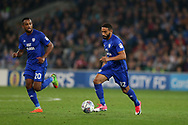 Liam Feeney of Cardiff City in action.EFL Skybet championship match, Cardiff city v Leeds Utd at the Cardiff city stadium in Cardiff, South Wales on Tuesday 26th September 2017.<br /> pic by Andrew Orchard, Andrew Orchard sports photography.