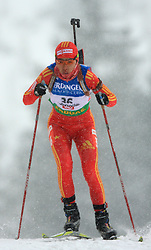 Chunli Wang (CHN) at Women 15 km Individual at E.ON Ruhrgas IBU World Cup Biathlon in Hochfilzen (replacement Pokljuka), on December 18, 2008, in Hochfilzen, Austria. (Photo by Vid Ponikvar / Sportida)