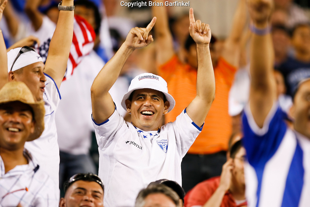 July 18 2009: Honduras fans celebrate after a Panama goal during the game between USA and Panama. USA played Panama after Honduras played Canada. The United States defeated Panama 2-1 in added extra time in a CONCACAF Gold Cup quarter-final match at Lincoln Financial Field in Philadelphia, Pennsylvania.