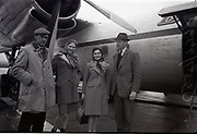 Irish Equestrian Team depart airport for Badminton Horse Trials 17-4-1966,