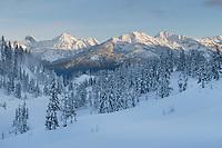North Cascades in winter, Heather Meadows Recreation Area Washington