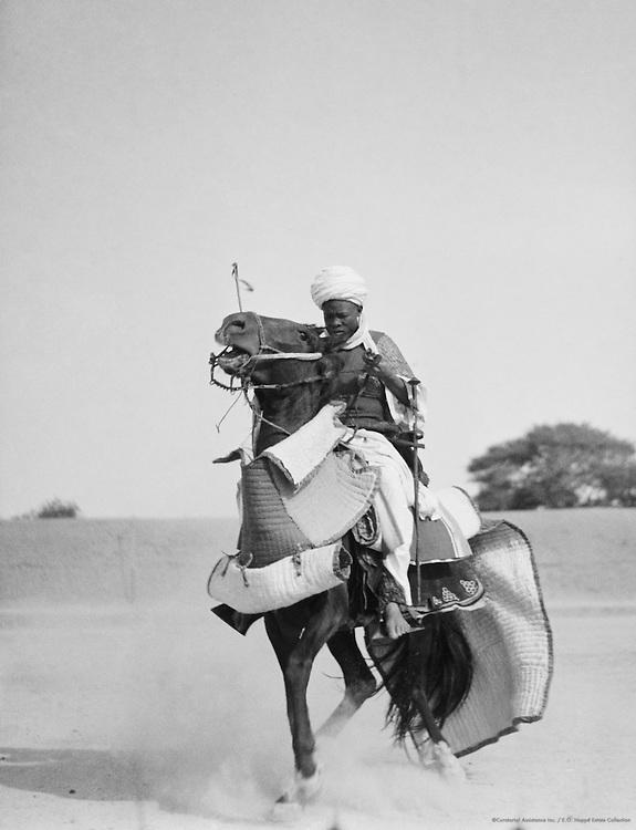 Horseman, Kano, Nigeria, Africa, 1937