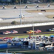 Sprint Driver Trevor Bayne (21) on the back stretch during the Daytona 500 at Daytona International Speedway on February 20, 2011 in Daytona Beach, Florida. (AP Photo/Alex Menendez)