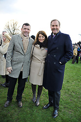 Left to right, STEVE FINAN and the HON.HARRY & CHICA HERBERT at the 2012 Hennessy Gold Cup at Newbury Racecourse, Berkshire on 1st December 2012