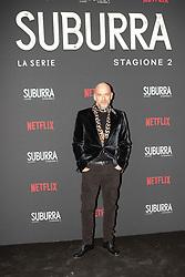 Filippo Nigro at the Red Carpet of the series Suburra 2 at Circolo Degli Illuminati in Rome, Italy, 20 February 2019  (Credit Image: © Lucia Casone/Soevermedia via ZUMA Press)