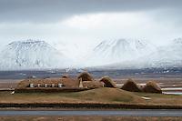 Glaumbær Turf farm in Skagafjörður, Northwest Iceland.
