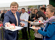 King Willem-Alexander and Maxima Queen visits the festival Long Live Club in