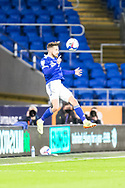 Cardiff City's Joe Bennet (3) heads clear during the EFL Sky Bet Championship match between Cardiff City and Birmingham City at the Cardiff City Stadium, Cardiff, Wales on 16 December 2020.