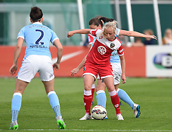 Bristol Academy's Nadia Lawrence in action during the FA Women's Super League match between Bristol Academy Women and Manchester City Women at Stoke Gifford Stadium on 18 July 2015 in Bristol, England - Photo mandatory by-line: Paul Knight/JMP - Mobile: 07966 386802 - 18/07/2015 - SPORT - Football - Bristol - Stoke Gifford Stadium - Bristol Academy Women v Manchester City Women - FA Women's Super League