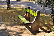 Eastern Europe, Hungary, Szeged, Wooden Bench