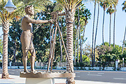 Bruce Brown Bronze Statue in the New South Cove Community