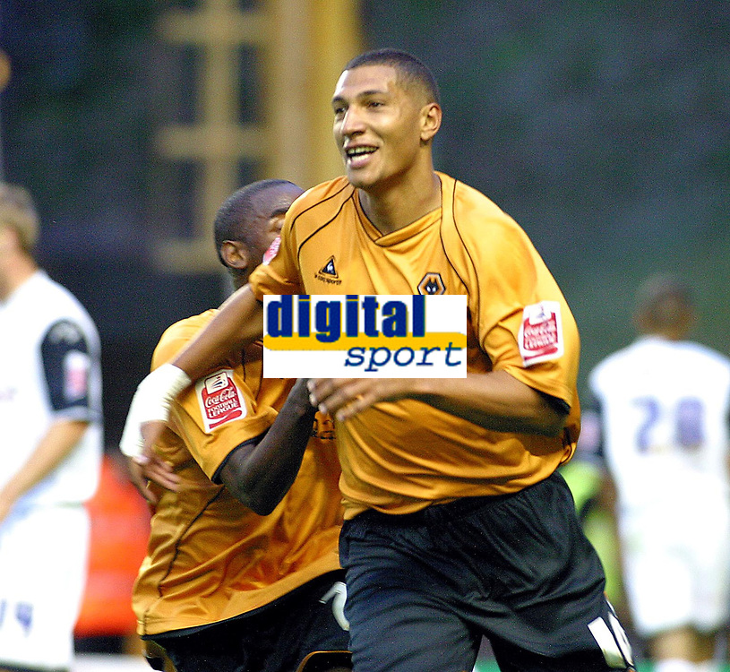 Photo: Dave Linney.<br />Wolverhampton Wanderers v Preston North End. Coca Cola Championship. 11/08/2006Wolves striker .Jay Boothroyd makes it 1-0 to Wolves