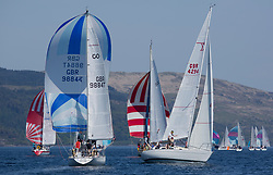 Sailing - SCOTLAND  - 25th-28th May 2018<br /> <br /> The Scottish Series 2018, organised by the  Clyde Cruising Club, <br /> <br /> First days racing on Loch Fyne.<br /> <br /> GBR9884T, Marisca, Alastair Pugh, RGYC/CCC,Contessa 32<br /> <br /> K4294, Odyssey II, Harold Hood, RNCYC<br /> <br /> Credit : Marc Turner<br /> <br /> <br /> Event is supported by Helly Hansen, Luddon, Silvers Marine, Tunnocks, Hempel and Argyll & Bute Council along with Bowmore, The Botanist and The Botanist