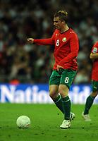 Wembley Stadium England v Belarus (3-0) World Cup Qualifying Group 6 14/10/2009<br /> Sergei Kornilenko  (Belarus)<br /> Photo Roger Parker Fotosports International