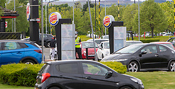 Queues at the Burger King in Springkerse Retail Park, Stirling.