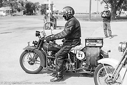 Paul Bessade of France riding his 1929 Henderson KJ during Stage 8 of the Motorcycle Cannonball Cross-Country Endurance Run, which on this day ran from Junction City, KS to Burlington, CO., USA. Saturday, September 13, 2014.  Photography ©2014 Michael Lichter.