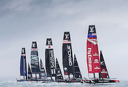 Image licensed to Lloyd Images. Free for editorial use. <br /> Pictures of Official Practice Day 24.07.15 - Artemis Racing skippered by Nathan Outteridge  Land Rover BAR Racing Team skippered by Sir Ben Ainslie (GBR)Softbank Team Japan skippered by Dean BakerOracle Team USA skippered by Jimmy Spithill & Emirates Team New Zealand skippered by Glenn Ashby <br /> Credit: Lloyd Images