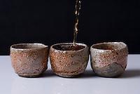 Korean earthenware tea cups sold in Seoul, South Korea.