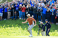 Jon Rahm (Team Europe) during the Saturday Fourballs at the Ryder Cup, Le Golf National, Paris, France. 29/09/2018.<br /> Picture Phil Inglis / Golffile.ie<br /> <br /> All photo usage must carry mandatory copyright credit (© Golffile | Phil Inglis)