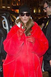 Celine Dion leaving Plaza Athenee Hotel in Paris on january 30, 2019. Photo by Nasser Berzane/ABACAPRESS.COM