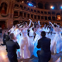 0802020442c Dress rehearsal of the 13th Budapest Opera Ball held at Opera House involving 50 couples of debutantes performing the opening waltz. Budapest, Hungary. Saturday, 02. February 2008. ATTILA VOLGYI