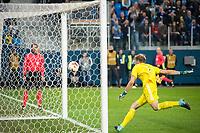 ST PETERSBURG, RUSSIA - OCTOBER 19, 2017. UEFA Europa League group stage: Zenit St Petersburg (Russia) 3 – 1 Rosenborg BK (Norway). Rosenborg goalkeeper Andre Hansen.