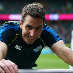 LONDON, ENGLAND - OCTOBER 18: Referee Craig Joubert (South Africa) during the Rugby World Cup Quarter Final match between Australia v Scotland at Twickenham Stadium on October 18, 2015 in London, England. (Photo by Steve Haag)