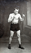 boxer posing early 1900s