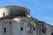 Detail of Saint Donatus' Church (Crkva sveti Donata). Zadar, Croatia