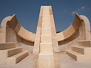 The Jantar Mantar monument of Jaipur, Rajasthan is a collection of nineteen architectural astronomical instruments, built by the Rajput king Sawai Jai Singh, and completed in 1738