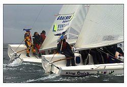 The second days racing at the Bell Lawrie Yachting Series in Tarbert Loch Fyne ...Strong winds, high seas and heavy rain dominated the day...GBR1777L King Quick and GBR1760 Goacher Sails in the 1720 Class..
