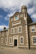 Historic barracks building at Pendennis Castle, Falmouth, Cornwall, England, UK