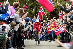 September 20, 2017 - Bergen, NORWAY - 170920 Edvald Boasson Hagen of Norway competes during the Men Elite Individual Time Trial on September 20, 2017 in Bergen..Photo: Vegard Wivestad GrÂ¿tt / BILDBYRN / kod VG / 170018 (Credit Image: © Vegard Wivestad Gr¯Tt/Bildbyran via ZUMA Wire)