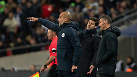 Football - 2018 / 2019 Premier League - Tottenham Hotspur vs. Manchester City<br /> <br /> Pep Guardiola, Manager of Manchester City, gives direction to his team at Wembley Stadium.<br /> <br /> COLORSPORT/DANIEL BEARHAM