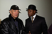 Stephen Berkoff and Chris Eubank, European premiere of Cirque de Soleil's Dralion, Royal Albert Hall and afterwards at the Natural History Museum, 8 January 2003.  .© Copyright Photograph by Dafydd Jones 66 Stockwell Park Rd. London SW9 0DA Tel 020 7733 0108 www.dafjones.com