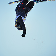 Sami Palmer (Sandy, UT) performs aerial acrobatics during the 2009 Sprint US Freestyle Championships held at the Utah Olympic Park in Park City on March 8, 2009. Palmer scored 111.70 points on the day which was good enough for 7th place overall.