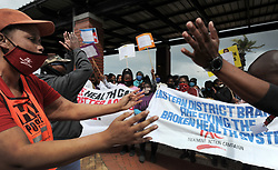 South Africa - Cape Town - 25 August 2020 - A group from the Treatment Action campaign and community healthcare workers picketed against poor services at the Khayelitsha Hospital and handed over a memorandum of demands. Photographer: Armand Hough/African News Agency(ANA) (ANATOPIX)