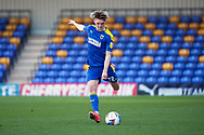 AFC Wimbledon midfielder Jack Rudoni (12) taking free kick during the EFL Sky Bet League 1 match between AFC Wimbledon and Hull City at Plough Lane, London, United Kingdom on 27 February 2021.