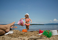 A day at the beach with Miss Ayla.   ©2104 Karen Bobotas Photographer