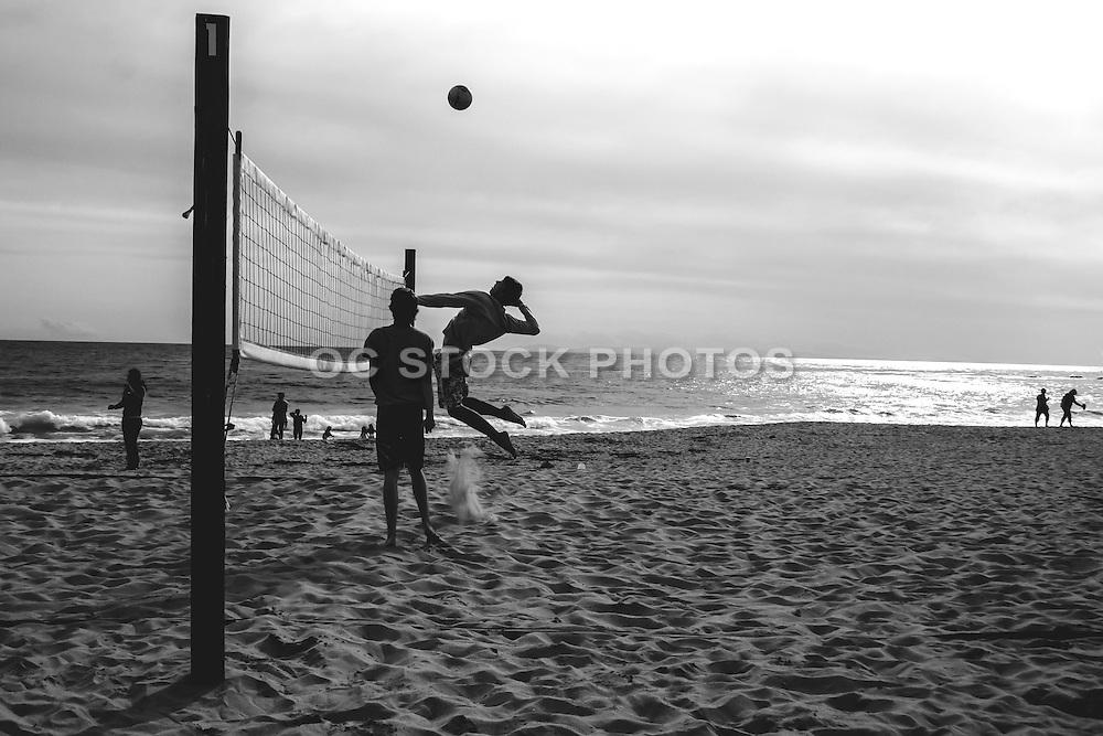 Men Playing Volleyball at Newport Beach