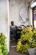 Banana shop seller, India