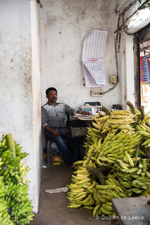 Banana shop seller, India