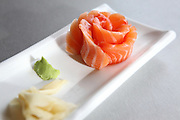 Raw salmon rose Sashimi
