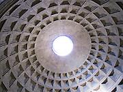 Italy, Rome, Dome roof of the Pantheon Piazza della rotonda