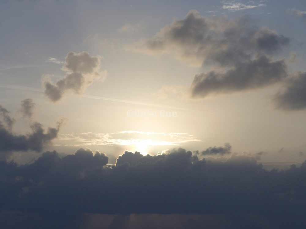 beautiful sunset sky Miami Beach