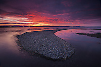 Sunset over the Adirondacks and Lake Champlain, Charlotte, Vermont