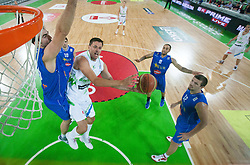 Bostjan Nachbar of Slovenia during basketball match between National teams of Slovenia and Bosna and Herzegovina in day 1 of Adecco cup, on August  3, 2012 in Arena Stozice, Ljubljana, Slovenia. (Photo by Vid Ponikvar / Sportida.com)