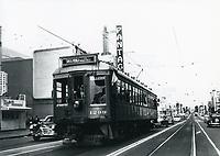 1952 Streetcar on Hollywood Blvd.