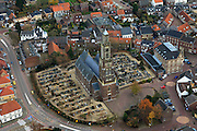 Nederland, Limburg, Echt 15-11-2010;.Sint Landricuskerk in Echt. luchtfoto (toeslag), aerial photo (additional fee required).foto/photo Siebe Swart
